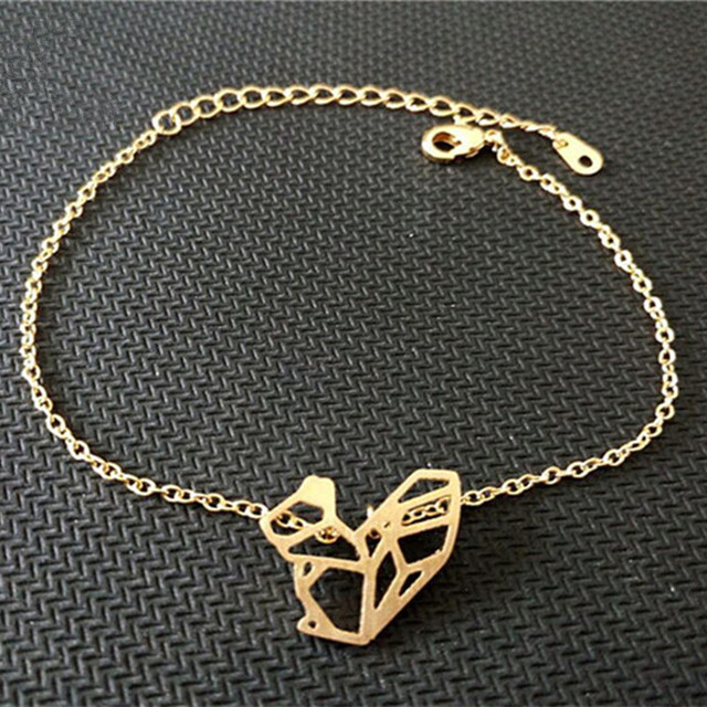 Fashion Jewelry 2017 Bff Gift Stainless Steel Cute Geometric Squirrel Bracelet Gold Silver Friendship Bracelets For