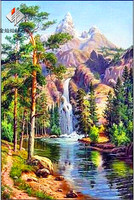 3th Handmade Needlework Diy Diamond Painting Kit Embroidery Plant Full Rhinestone Nature Scenery Cross Stitch Painting