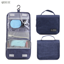 Foldable Hanging Waterproof Durable Cosmetic Bag Portable Travel Hanging Big Capacity Travel Organizer Makeup Bag