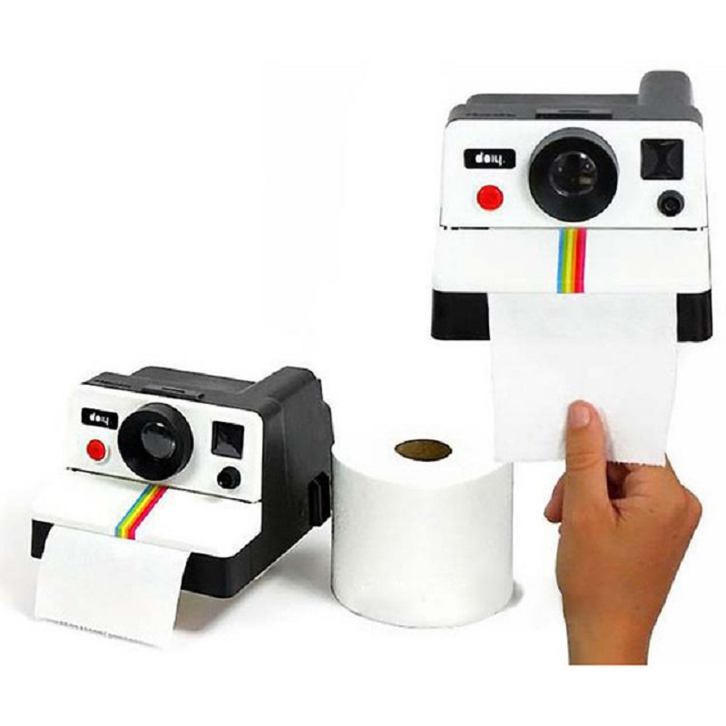 14*17*10CM Retro Polaroid Camera Shape Toilet Roll Paper Vintage Plastic Tissue Box Personality Bathroom Storge Accessories Tool