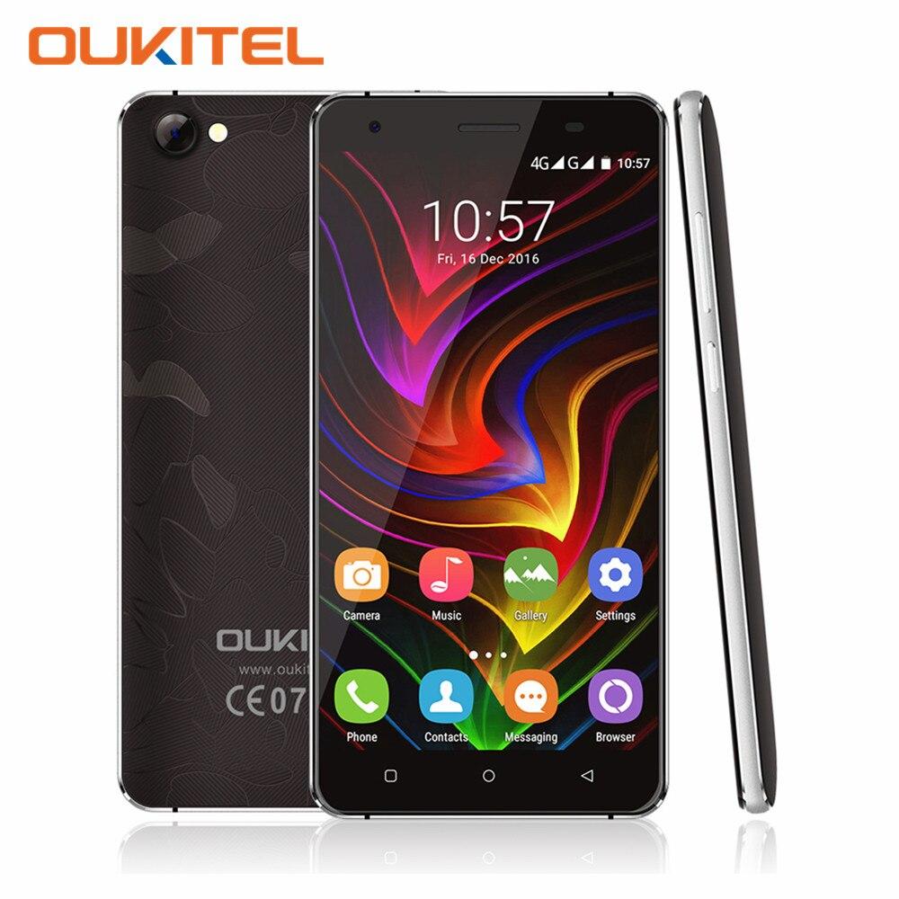 OUKITEL C5 Pro 5.0 Pulgadas Quad Core HD 4G LTE Smartphone 2 GB MT6737 RAM 16 GB
