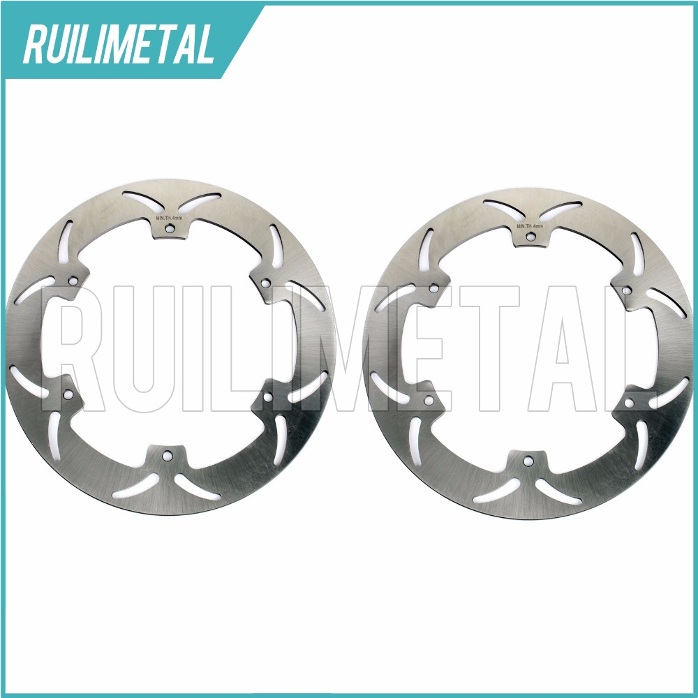 Full Set Front Brake Discs Rotors for YAMAHA XJ S DIVERSION 900 1994 1995 1996 1997 1998 1999 2000 2001 2002 2003 тормозные колодки подходят yamaha xj 900 s diversion 95 03 передняя 1 pair 2 колодки