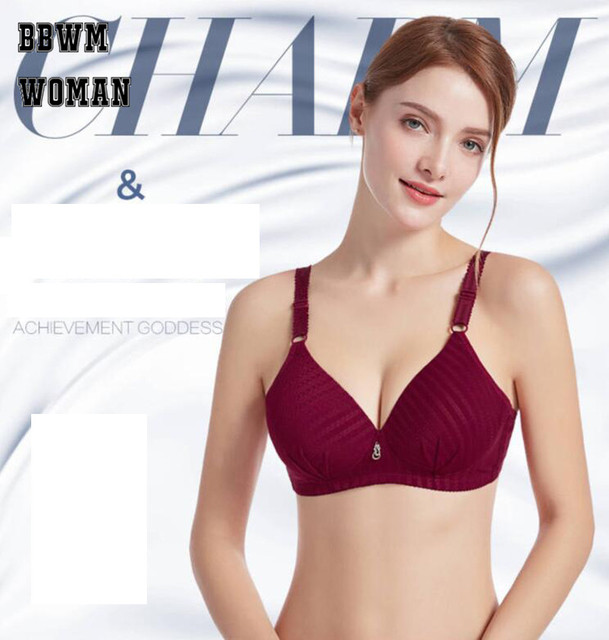 83bf47f6db PLus Size No Steel Ring Bralette Lingerie Burgundy Black Without Underwire  Sexy Bra Bras for Women ZO924