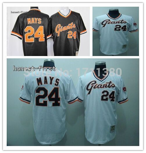 San Francisco Giants throwback jersey 24 Willie Marys jersey Retro Stitched cheap authentic sport baseball jerseys custom M-3XL