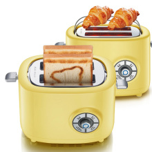 DMWD 220V 680W 6 Gear Fast Heating Bread Toaster 2 Capacity Slices Mini Automatic Toaster Oven Household Breakfast Maker