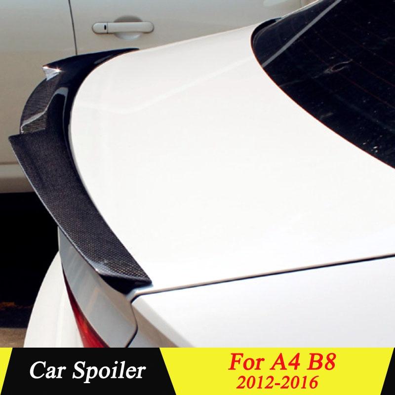 Carbon Fiber Rear Trunk Spoiler For Audi A4 B8 2012 2013 2014 2015 2016 Black Car