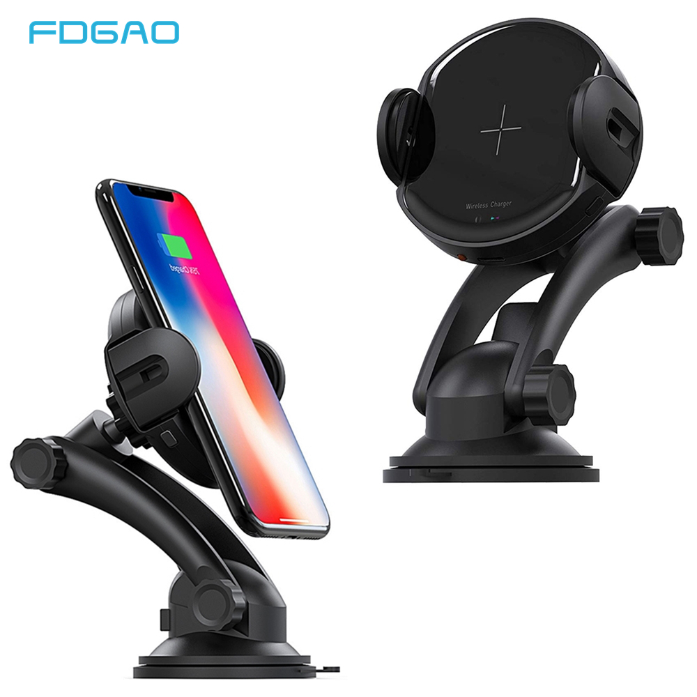 FDGAO Wireless Car Charger Mount Samsung Note 9//S9//S9+//S8//Note 8 15W Qi Fast Charging Car Phone Holder with QC3.0 Car Charger Windshield Dashboard Air Vent Mount for iPhone Xs//Max//X//XR//8//8 Plus