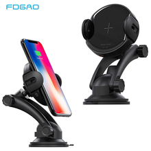 FDGAO 15W Qi Wireless Car Charger For iPhone XR XS Max X 8 Automatic Phone Holder Air Vent Fast Charging Samsung S10 S9 S8