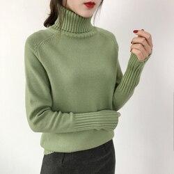 OHRYIYIE Women Turtleneck Winter Sweater 2019 New Khaki Beige Long Sleeve Knitted Pullovers Female Jumper Tricot Tops Pull Femme 3