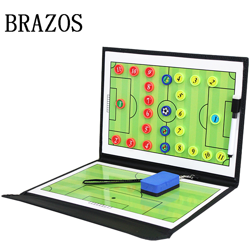 Updated Foldable Tactic Soccer Board Magnetic Football Board Football Training Soccer Coach Coaching Tactical Clipboard Futbol