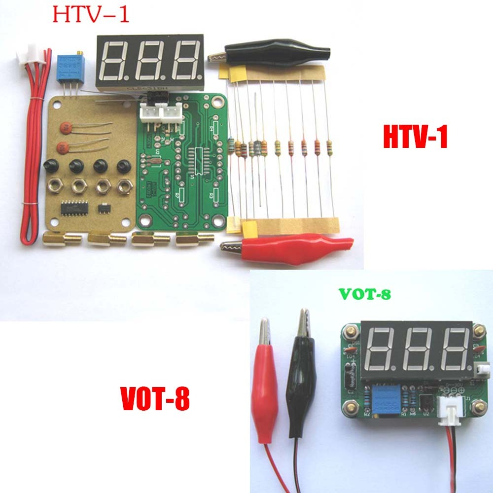 VOT-8 HTV-1 DIY Voltmeter Kit Voltage Meter DIY Electronic Production Suite(China)