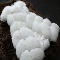 2016 fox fur vest faux fur vest women jacket Spring Autumn Season Fashion waistcoat outerwear medium long Leather grass fur coat