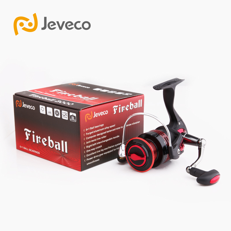 Jeveco FireBall Spinning Angelrolle, Lure Reel Fishing 5.5: 1 6 + - Angeln - Foto 6