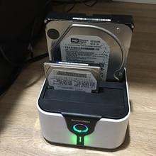 2-Bay 4TB Dual SATA 2.5″/3.5″ ssd Hdd Docking Station USB 3.0 to SATA I II HDD Duplicator High Speed 5 Gbps support offline copy