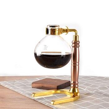 Japanese Style Siphon coffee maker Tea Siphon pot vacuum coffeemaker glass type coffee machine filter kahve makinas 3cup 5