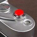 Atacado new arrival 1 pcs red metal macio botão obturador para fujifilm x100 slr camera frete grátis