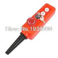Red Emergency Stop 2 Position Key Lock Up Down Hoist Crane Pushbutton Switch