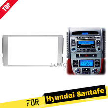 LONGHSI Double Din Stereo Panel for Hyundai Santa Fe 2006-2012 Fascia Radio DVD Dash Mounting Installation Trim Kit Face Frame все цены
