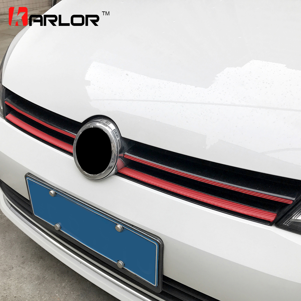 Grille Front Bumper Carbon Fiber Protection Film Car Stickers And Decals Car styling For Volkswagen VW Golf 7 MK7 Accessories-in Car Stickers from Automobiles & Motorcycles