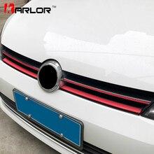 Pegatinas y calcomanías de película de Protección de fibra de carbono para parachoques delantero de rejilla, estilismo para Volkswagen VW Golf 7 MK7, accesorios