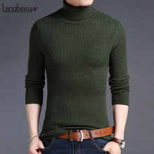 aa500737c01566 2019 New Fashion Brand Sweater For Mens Pullovers Turtleneck Slim Fit Jumpers  Knit Woole Warm Korean Style Casual Clothing Men