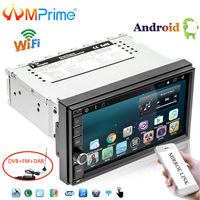 AMPrime 7 Android Car Multimedia Player 1din GPS Navigation WIFI Touch Screen Car Radio DAB+OBD Bluetooth Mirror Link Autoradio
