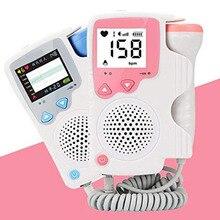 As mulheres Em Casa Usar Monitor de Freqüência Cardíaca Fetal Prenatal Fetal Heart Rate Monitor Do Bebê Monitor de Linguagem da Música Atividade Bebê Monito