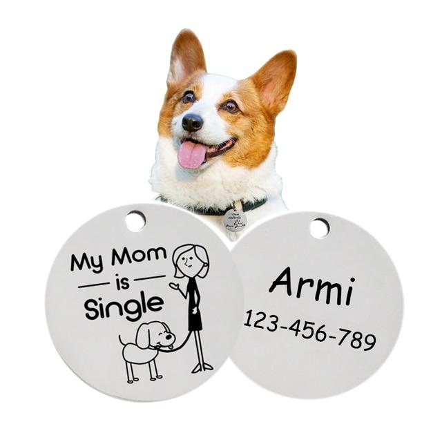 Modello personalizzato Piccolo Cane di Animale Domestico Tag ID 6211001 Su Ordin
