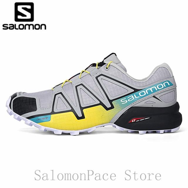 1cdbd4140a9d0 Original salomon men shoes speed cross outdoor sports cross country shoes  walking speedcross grey yelow hiking