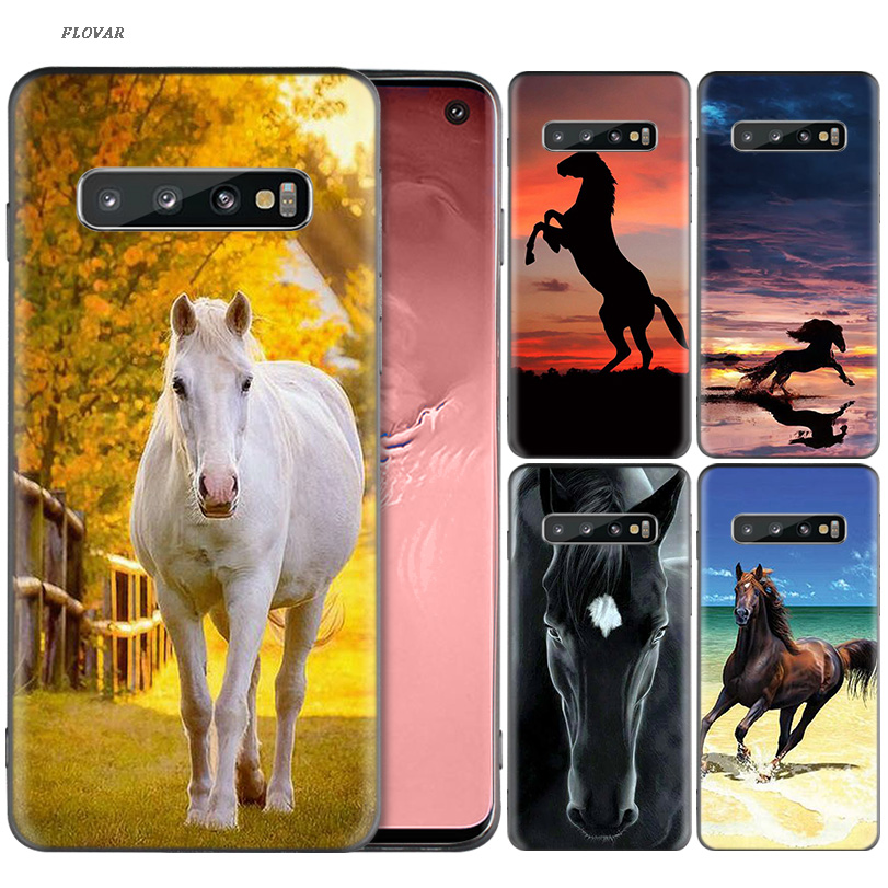 <font><b>Horse</b></font> Series Silicone <font><b>Case</b></font> For <font><b>Samsung</b></font> <font><b>Galaxy</b></font> A70 <font><b>A50</b></font> M30 S10 Plus S10E M20 M10 A40 A30 A20 A10 A20E Cover Coque image
