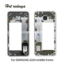 A310 2016 Middle Frame For Samsung Galaxy A3 A310 A310F 2016 Mid Plate Metal Bezel Housing With Side Key Part цена