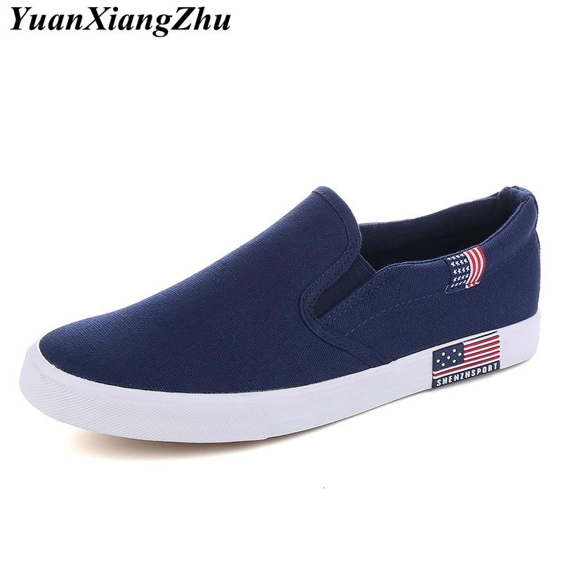 2019 Summer Classic Men Canvas Shoes Breathable Comfortable Casual Shoes Men High Quality Anti-Slip Men Loafers Plus Size Flats