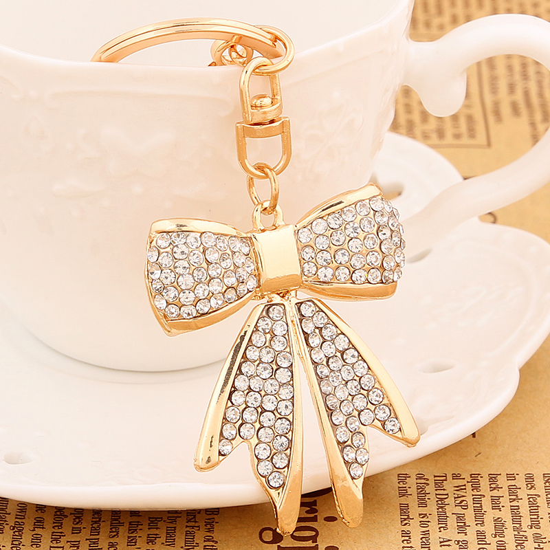 Novelty Items Creative Rhinestone Bow Metal Key Chains Ring Holder Fashion  Trinket Bag Charms Keychain Women Jewelry Gift R058-in Key Chains from  Jewelry ... 6608e0ea30