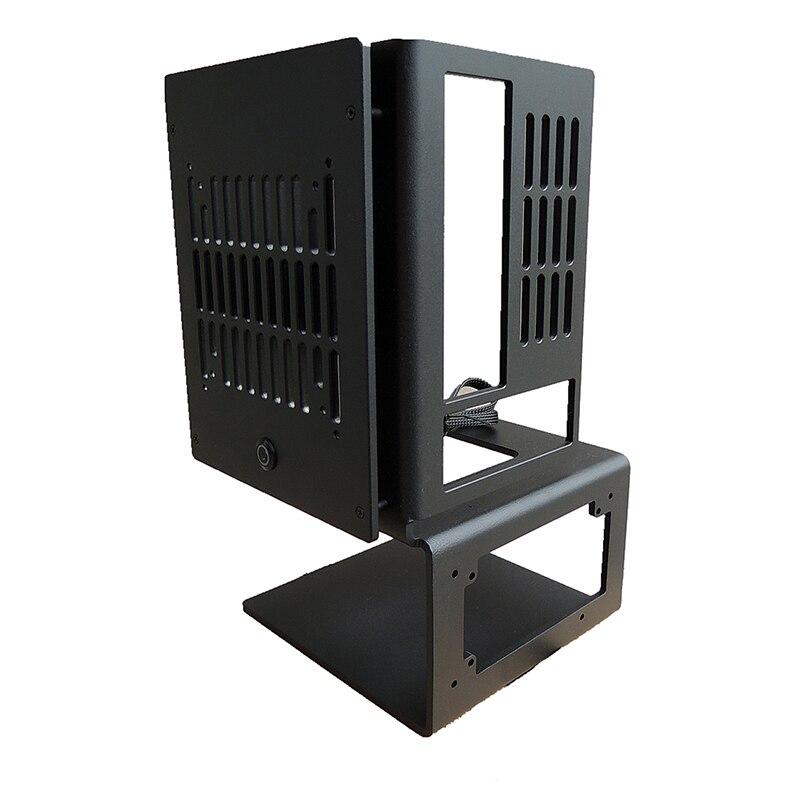 Water-cooled chassis all-alumínio aberto vertical mini itx motherboard pode ser equipado com sfx atx fonte de alimentação