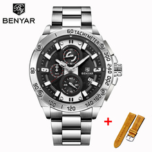 BENYAR Reloj Hombre  Men Watches Quartz Chronograph Top Brand Luxury Wristwatch Mens Military Waterproof Clock Zegarek Meski