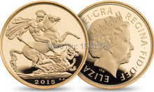 wholesale 100pcs/lot DHL Free shipping The Sovereign 2015 gold coin