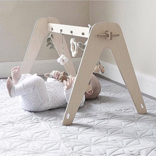 Wood Baby Activity Gym Nordic Baby Sensory Develop Toddler Toys Play Game Frame Early Education Toys Kids Newborn Room Decor