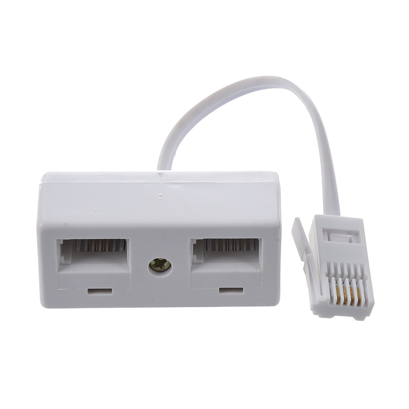One BT Plug To Two UK BT Telephone Socket Adapter Splitter