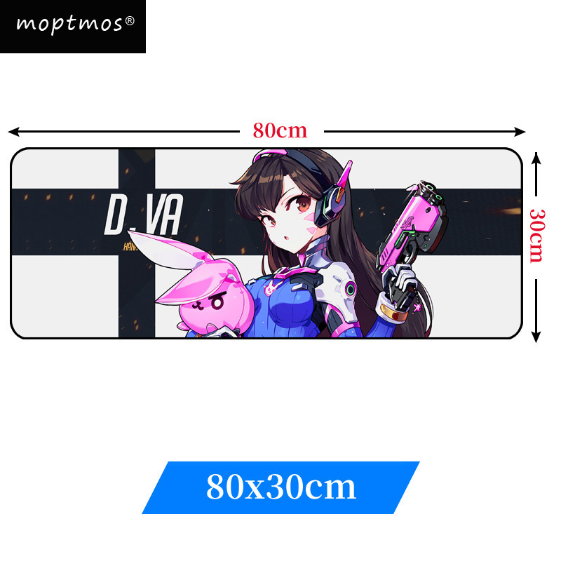 Overwatch Extra Large Gaming Mouse Pad Anime D.VA Mouse Mats Non-Slip Mousepad Mousepad for Laptop & PC  (31.5x11.8x0.12inch)Overwatch Extra Large Gaming Mouse Pad Anime D.VA Mouse Mats Non-Slip Mousepad Mousepad for Laptop & PC  (31.5x11.8x0.12inch)
