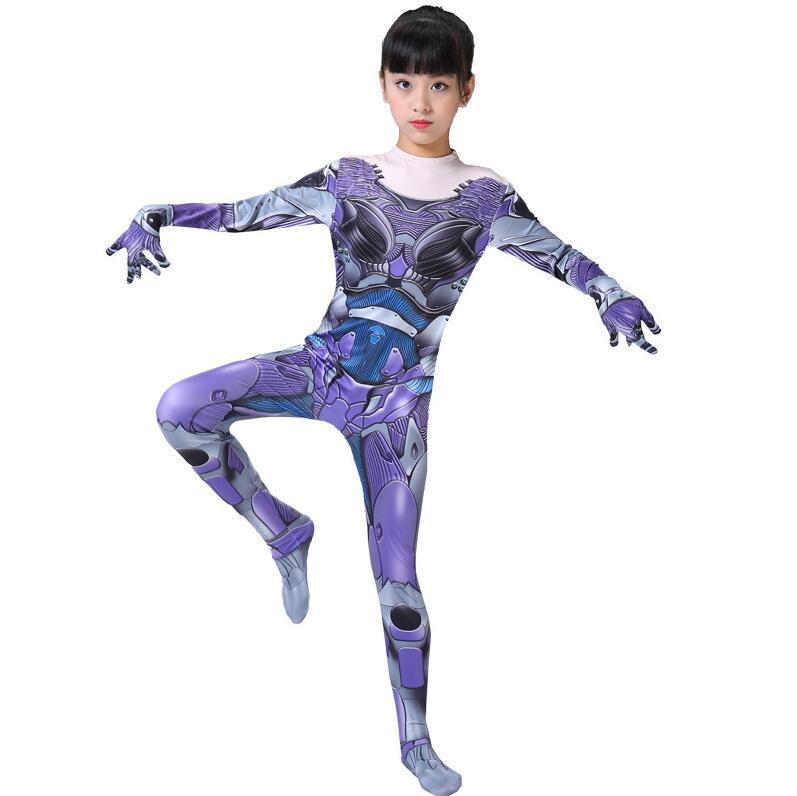 Adult Kids Alita : Battle Angel Cosplay Costume Zentai Bodysuit Suit Jumpsuits Carnival Halloween Costumes for Women Girls