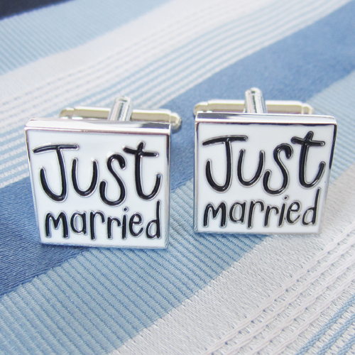 Just Married Cufflink 15 Pairs Wholesale Free Shipping