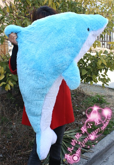 large 140cm blue dolphin doll dolphin plush toy hug toy , birthday gift x127 lovely panda in pink dress big 90cm plush toy panda doll soft throw pillow proposal birthday gift x030