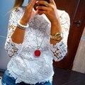 Новый Рубашка Мода Женская Дамы Свободные Цветочные Топы С Длинным Рукавом Рубашки Случайным