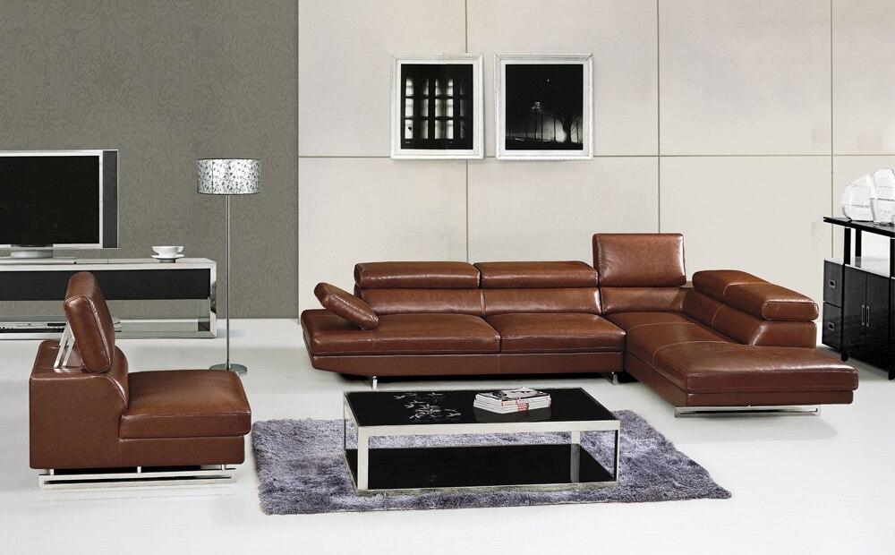 Sapi asli sofa kulit set, Furniture ruang tamu sofa sofa, Sectional / - Mebel - Foto 2