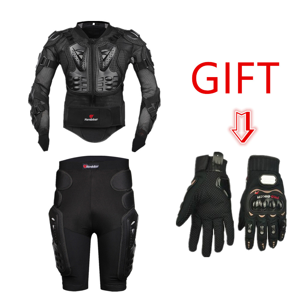 HEROBIKER Professional Motocross Off-Road Motorcycle Full Body Armor Jacket Motorbike Protective Gear Pants Leg Gloves Gift herobiker armor removable neck protection guards riding skating motorcycle racing protective gear full body armor protectors