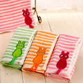 New Arrival Stripped Baby Face Towels 100% Cotton Children Towels Cartoon Face Towels 50x20cm