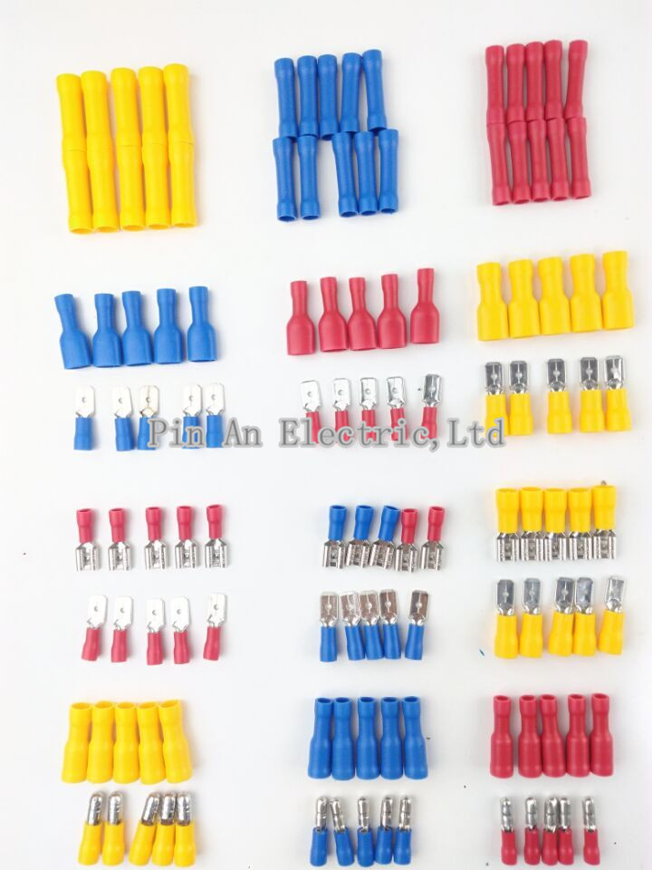 10PCS Female male Insulated Spade joint Connector Crimp Terminal Connectors Cable Wire Connector 100pieces 50set crimp male female spade cable terminals nylon flag right angle insulated fast quick wire connector terminator