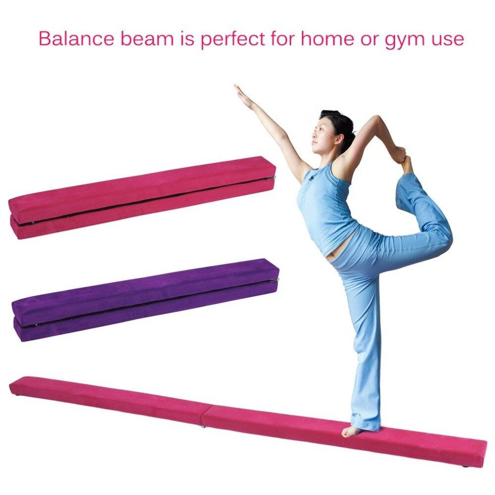 2.1 m Suede Pliant L'équilibre De Gymnastique Faisceau Résistant à L'usure Accueil Gym Entraînement Sportif Équipement Intérieur Poutre D'équilibre Pour Les Gymnastes