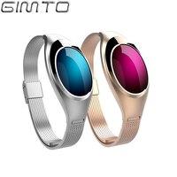 GIMTO Luxury Women Bracelet Smart Watch Digital Sport Waterproof Smartwatch Blood Pressure Heart Rate Monitor For