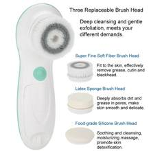37faaa0b70 in 1 Ultrasonic Waterproof Face Cleansing Brush Electric Face Massager Cleaner  Skin Pore Cleaner Massager Brush